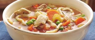 Supë pule me fije - Recetë për tenxhere me presion ( 4 persona)